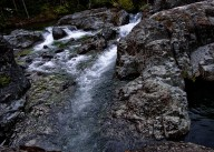 Rocky waters as the North Fork of the Santiam River passes through.
