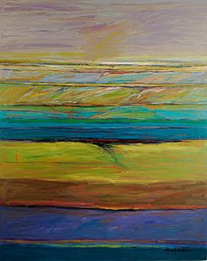 "Gary Anderson - Walla Walla Sunset, Acrylic on Canvas, 60"" x 48"""