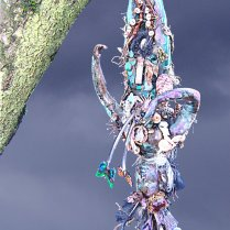 """""""Hanged Woman Initiation"""" by Suzy Mayer, Mixed Media, sculpture"""