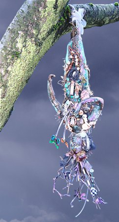 """Hanged Woman Initiation"" by Suzy Mayer, Mixed Media, sculpture"