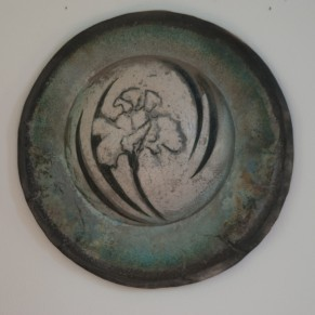 "Jan Shield - Iris Moon, Clay/Oxidation, 21"""