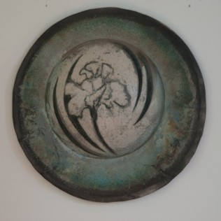 Jan Shield - Iris Moon, Clay/Oxidation, 21""