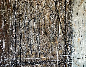 "Tangie Pape Belmore - Golden Thicket, Acrylic & Mixed Media, 48"" x 60"""