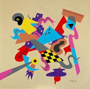 Bill Marlieb - Cityscape I, Acrylic on Canvas