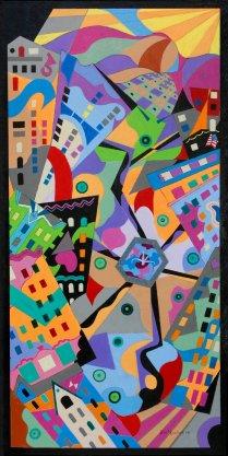 Bill Marlieb - Portland Microcosm, Acrylic on Canvas