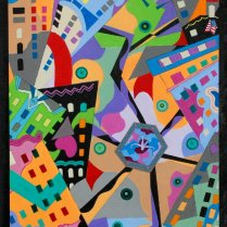Bill Marlieb - Portland Microcosm, Acrylic on Canvas