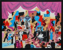 Bill Marlieb - Skyscraper Cafe Harlem 1944, Acrylic on Canvas
