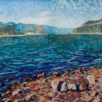 Alice Wanke Stephens - St. Cloud Toward Crown Point, Acrylic on Linen