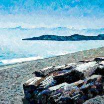 Alice Wanke Stephens - Strait of Juan de Fuca, Acrylic on Linen