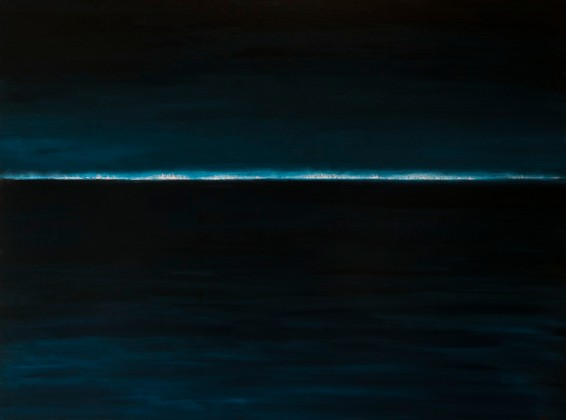 "Sally Cohen - Harbor Lights, Oil on Canvas, 30"" x 40"""