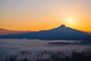 Vince Ferguson - Mt. Hood Sunrise, Oct. 19, 2013 - Digital Image