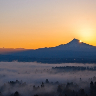 Vince Ferguson - Mt. Hood Sunrise, Oct. 19, 2013 - Digital Image