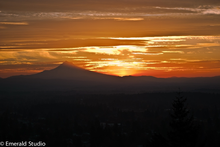 Vince Ferguson - 103013-Mt. Hood Sunrise - Digital Image