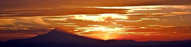 Vince Ferguson - Mt. Hood Sunrise Panoramic - Digital Image