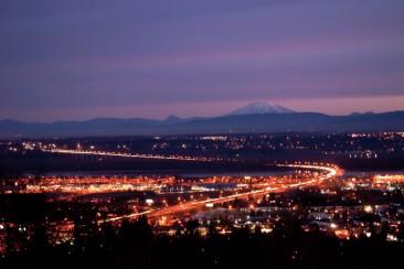 Vince Ferguson - Mount St. Helens at Sunrise, Jan. 6, 2014 - Digital Image