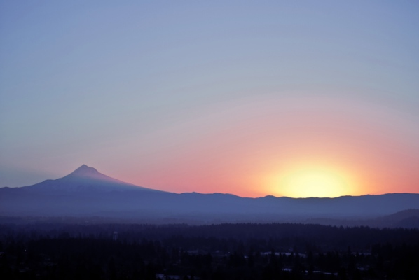 Vince Ferguson - 012514 - Mount Hood Sunrise - Digital Image