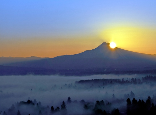 Vince Ferguson - Mount Hood Sunrise - Digital Image