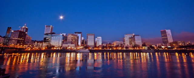 Vince Ferguson - Portland Night Panoramic - Digital Image