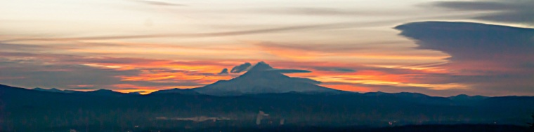Vince Ferguson - Mount Hood Sunrise Panoramic - Digital Image