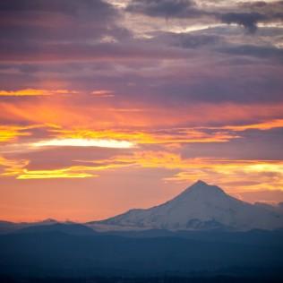 Vince Ferguson - 022614-Mount Hood Sunrise - Digital Image