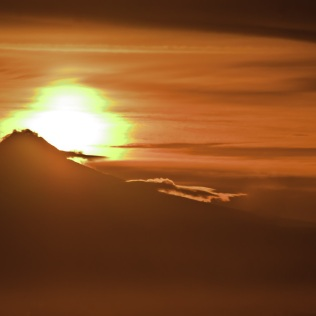 Vince Ferguson - Sunrise Abstract over Mount Hood - Digital Image