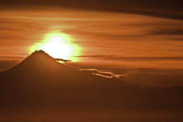 Vince Ferguson - Sunrise Abstract over Mount Hood - Digital Image