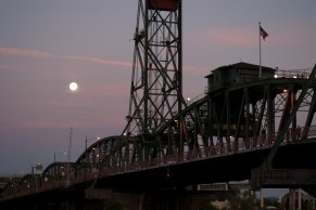 Vince Ferguson - Hawthorne Bridge Super Moon - Digital Image