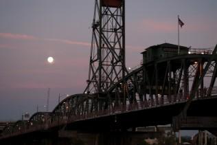 Vince Ferguson - Hawthorne Bridge Super Moon - Digital Image