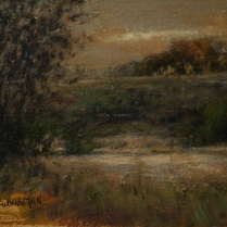 Sandee Burman - Autumn Evening - Oil on Board