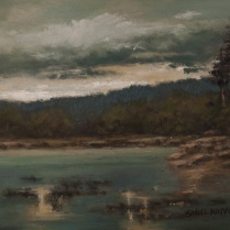 Sandee Burman - Waters Edge - Oil on Board
