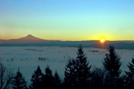 Vince Ferguson - Mount Hood Sunrise 01072015 - Digital Image