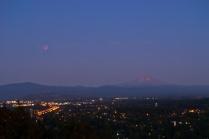 C. Vincent Ferguson - Blood Moon and Mount Hood - Digital Image