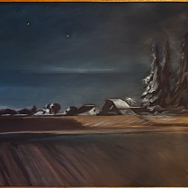 Shield, Jan-Encroachment Looking Toward the Portland Glow, Oil on cotton canvas