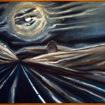 Shield, Jan - Encroachment in the Instantaneous Enclosure of Midnight - Oil on linen canvas
