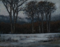 "Burman, Sandee - First Snow, Oil on Board, 19"" x 22"" framed"