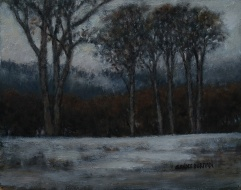 "Burman, Sandee - First Snow, Oil on Board, 19"" x 22"" framed"