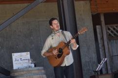 Jon Ransom plays on patio at Vista Hills Vineyard Treehouse, guitar, musician, live, music, playing,